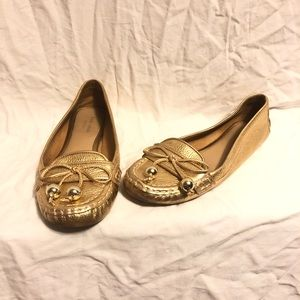 Kate Spade Gold Loafers